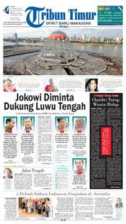 Cover Tribun Timur 19 Maret 2018