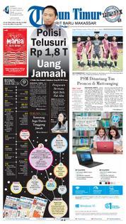Cover Tribun Timur 24 Maret 2018
