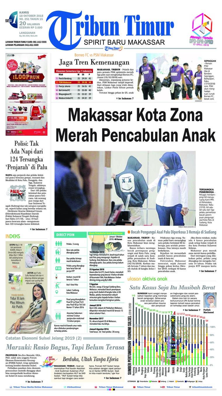 Koran Digital Tribun Timur 18 Oktober 2018