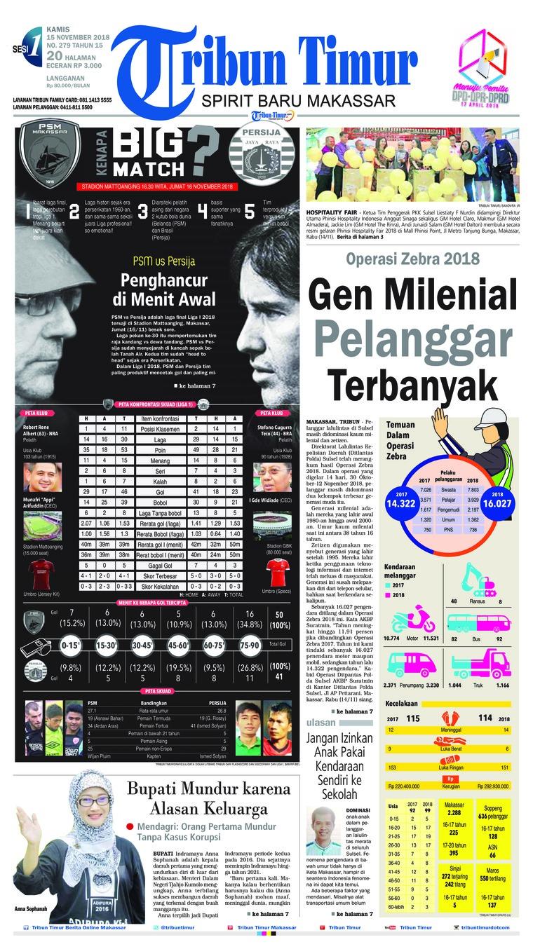 Koran Digital Tribun Timur 15 November 2018