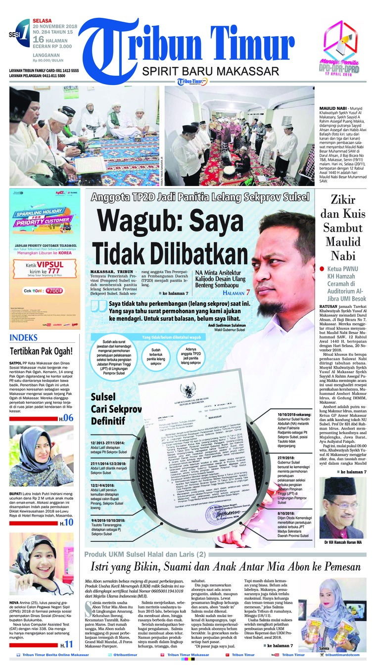 Koran Digital Tribun Timur 20 November 2018