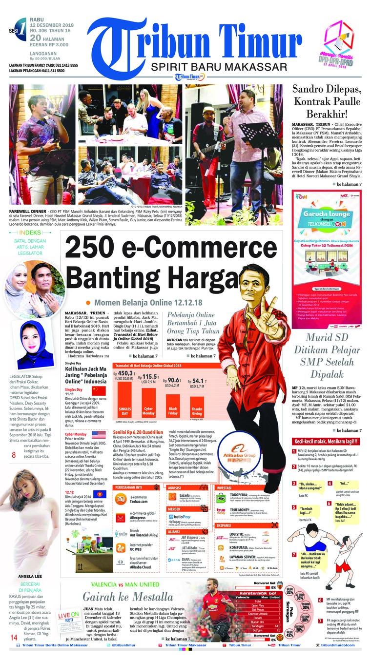 Koran Digital Tribun Timur 12 Desember 2018
