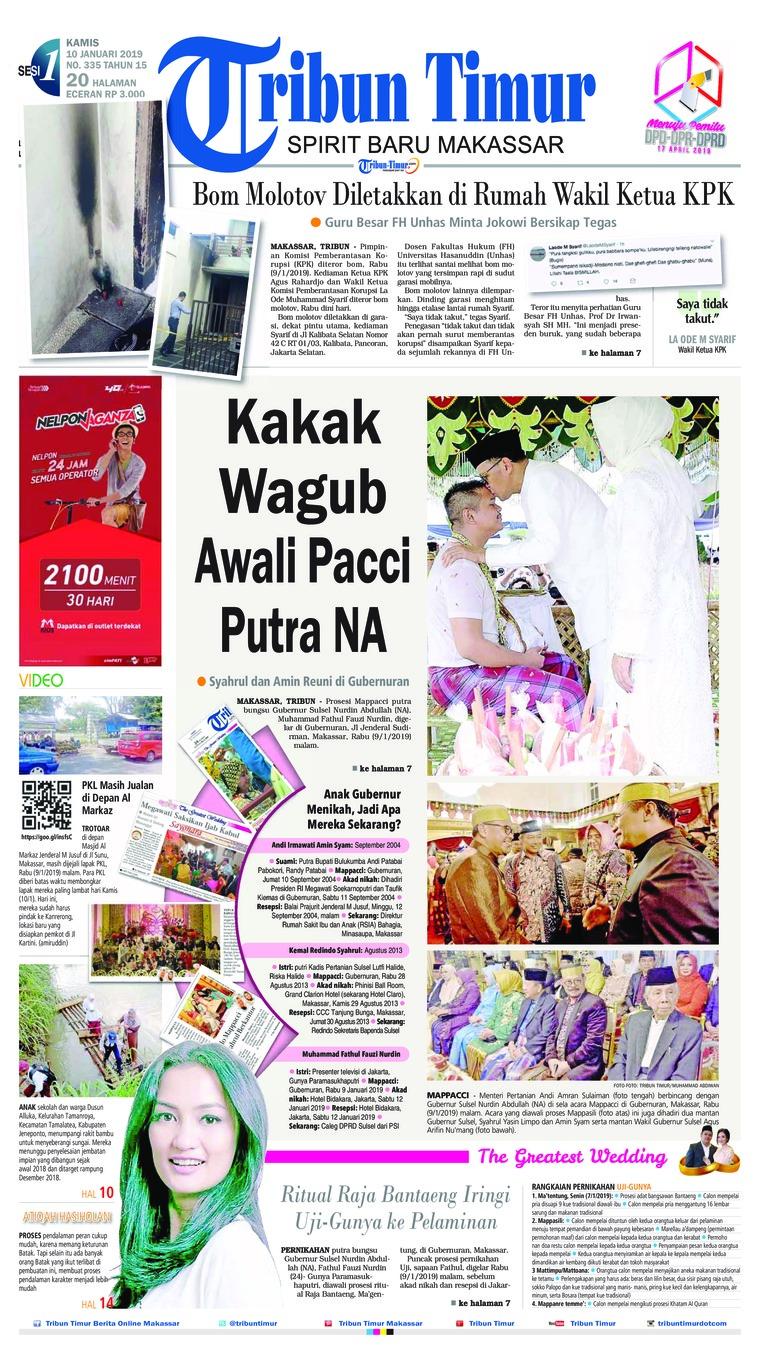 Tribun Timur Digital Newspaper 10 January 2019