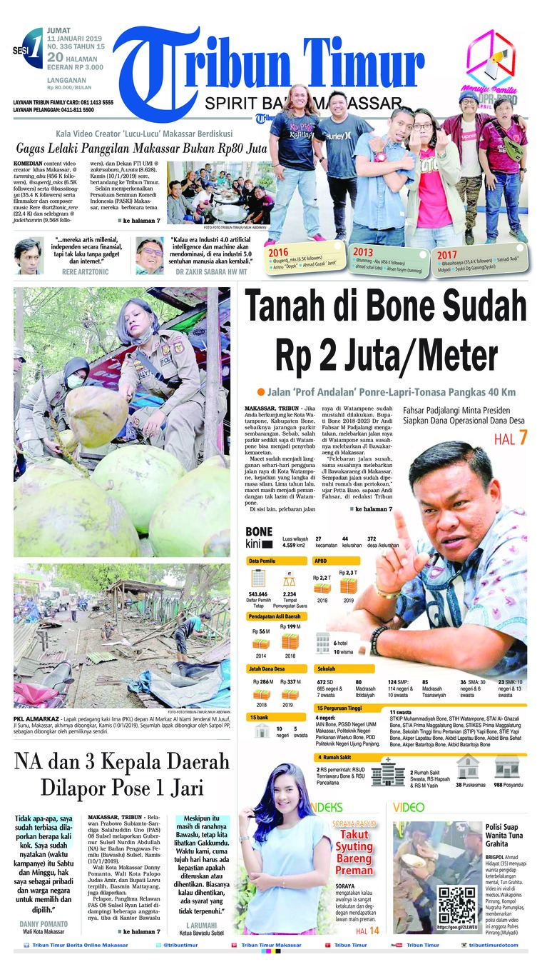 Tribun Timur Digital Newspaper 11 January 2019