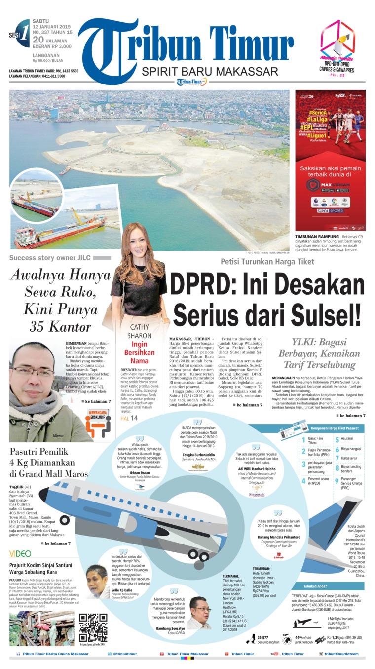 Tribun Timur Digital Newspaper 12 January 2019