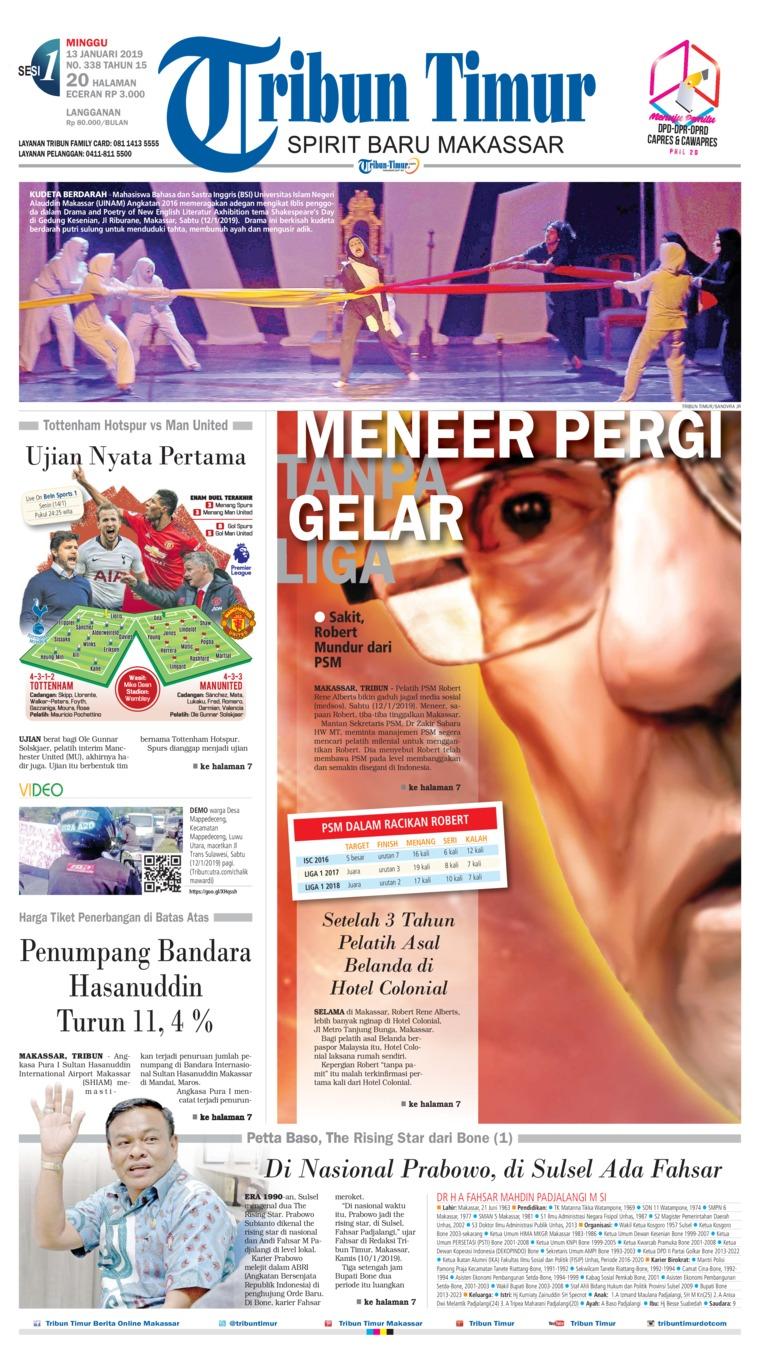 Koran Digital Tribun Timur 13 Januari 2019