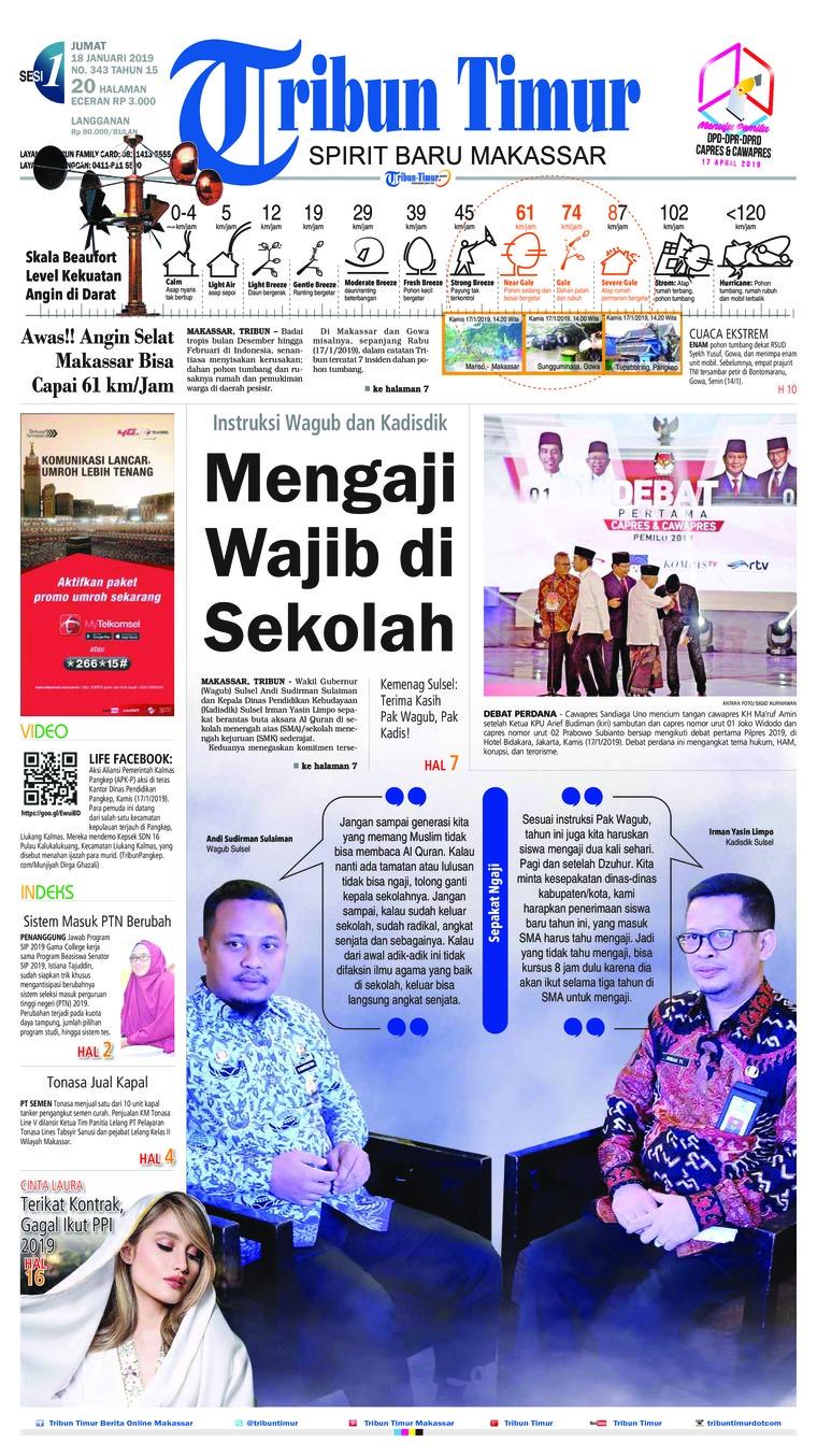 Koran Digital Tribun Timur 18 Januari 2019