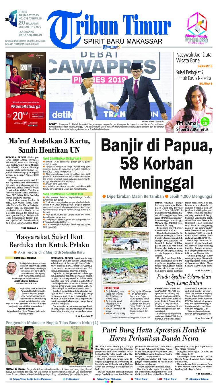 Koran Digital Tribun Timur 18 Maret 2019