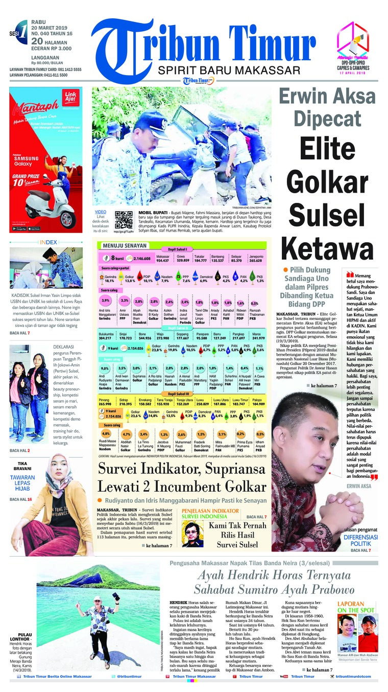 Tribun Timur Digital Newspaper 20 March 2019