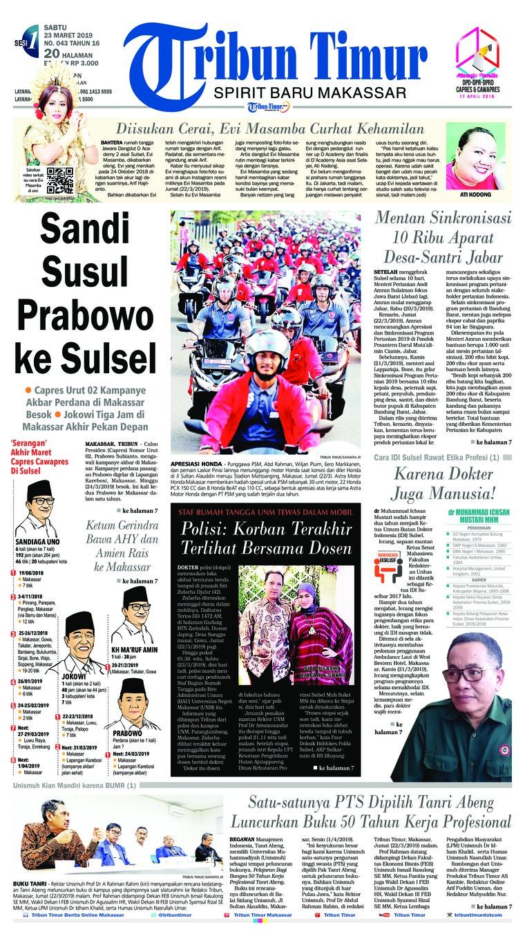 Koran Digital Tribun Timur 23 Maret 2019
