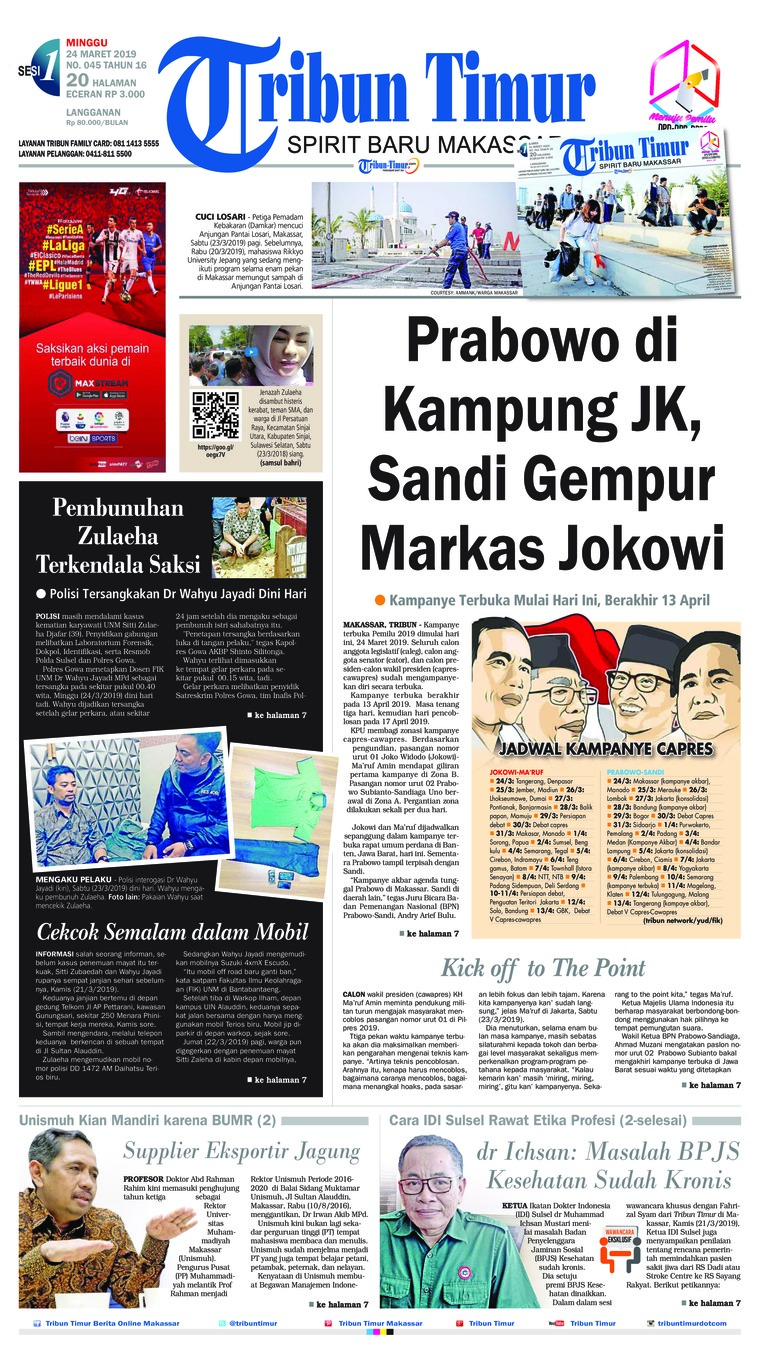 Tribun Timur Digital Newspaper 24 March 2019