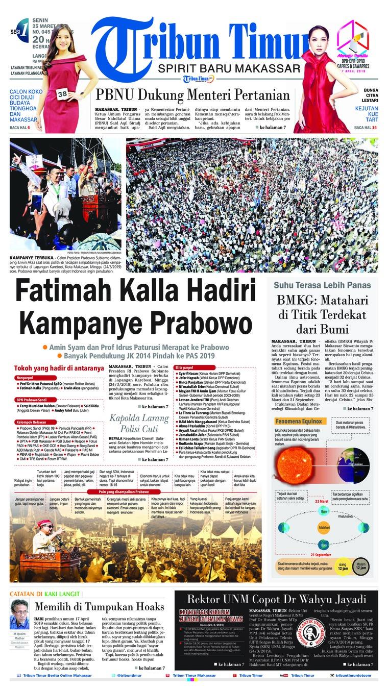Koran Digital Tribun Timur 25 Maret 2019