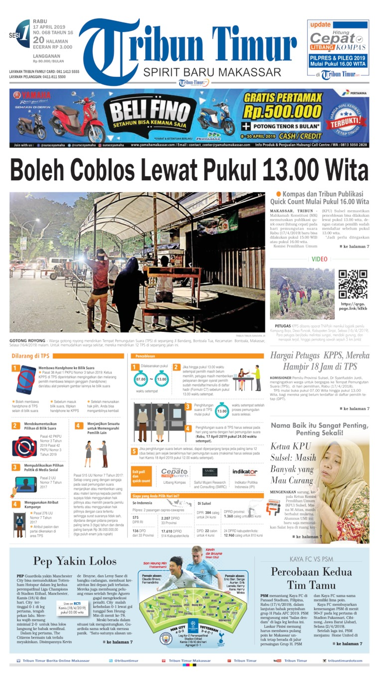 Koran Digital Tribun Timur 17 April 2019