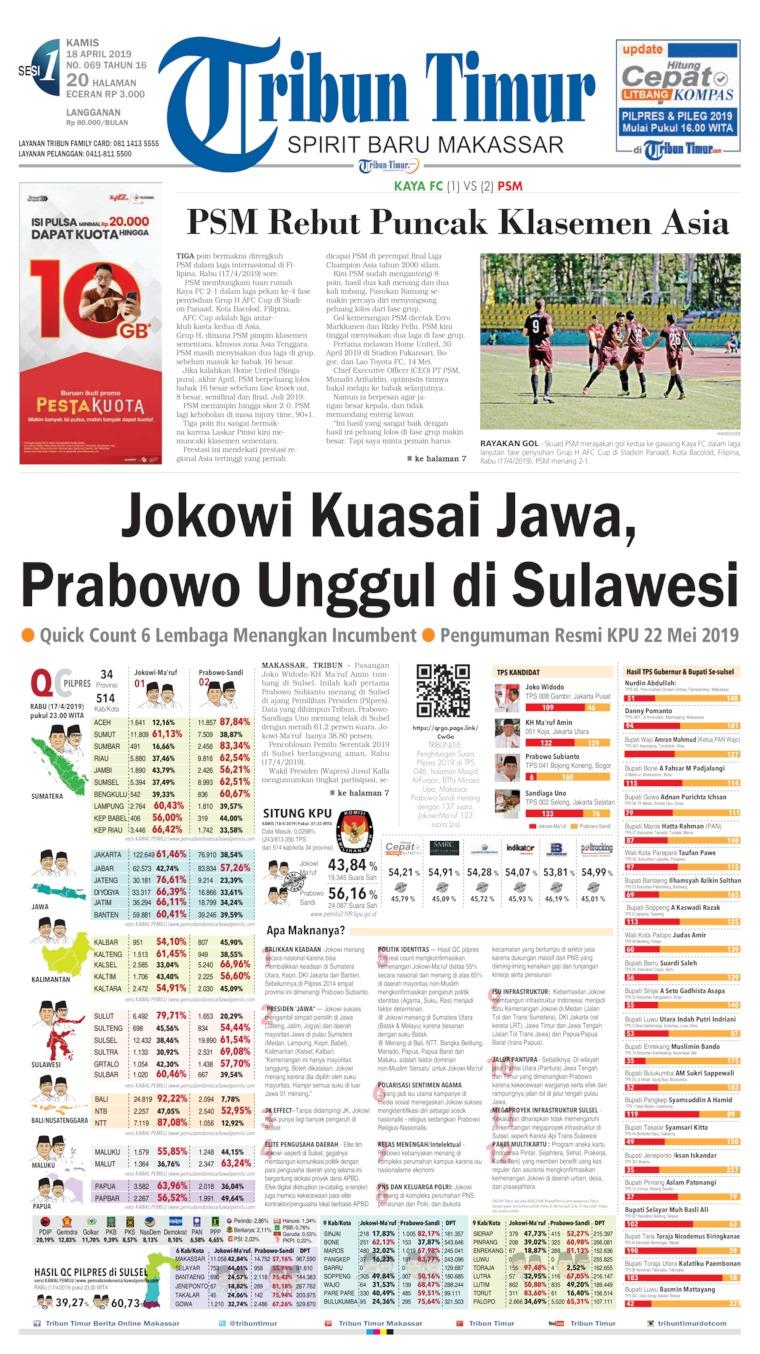 Koran Digital Tribun Timur 18 April 2019
