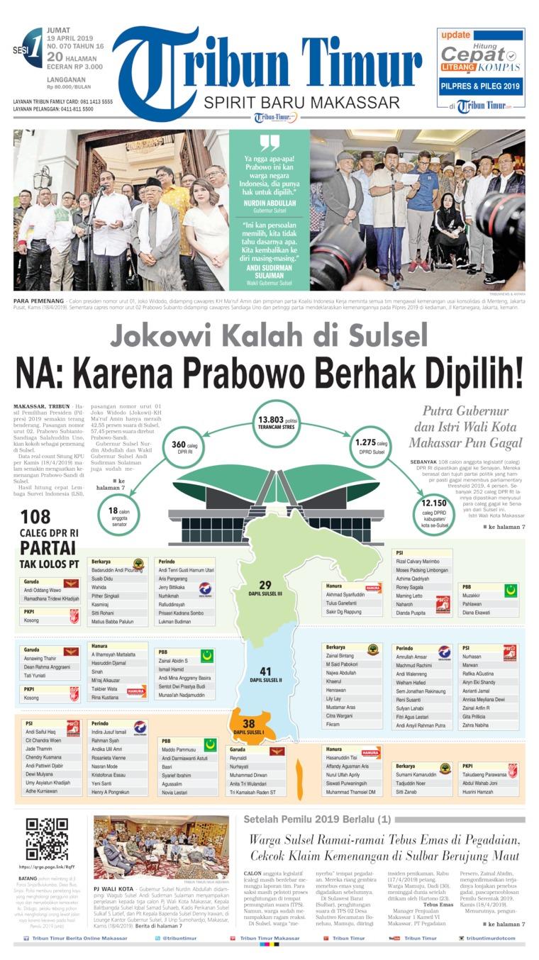 Koran Digital Tribun Timur 19 April 2019