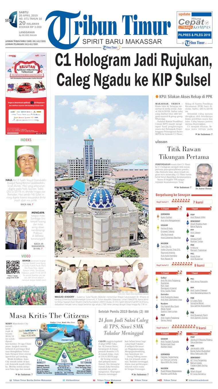 Tribun Timur Digital Newspaper 20 April 2019