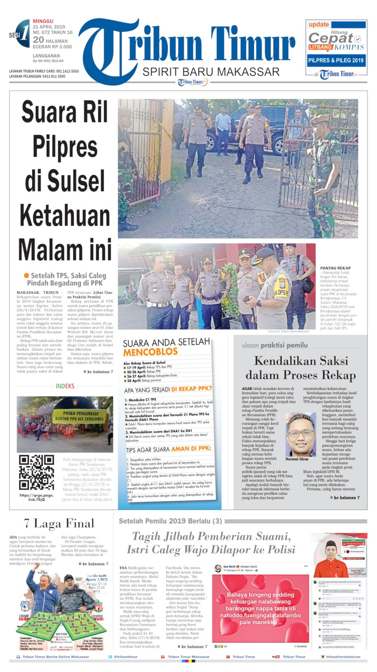 Koran Digital Tribun Timur 21 April 2019