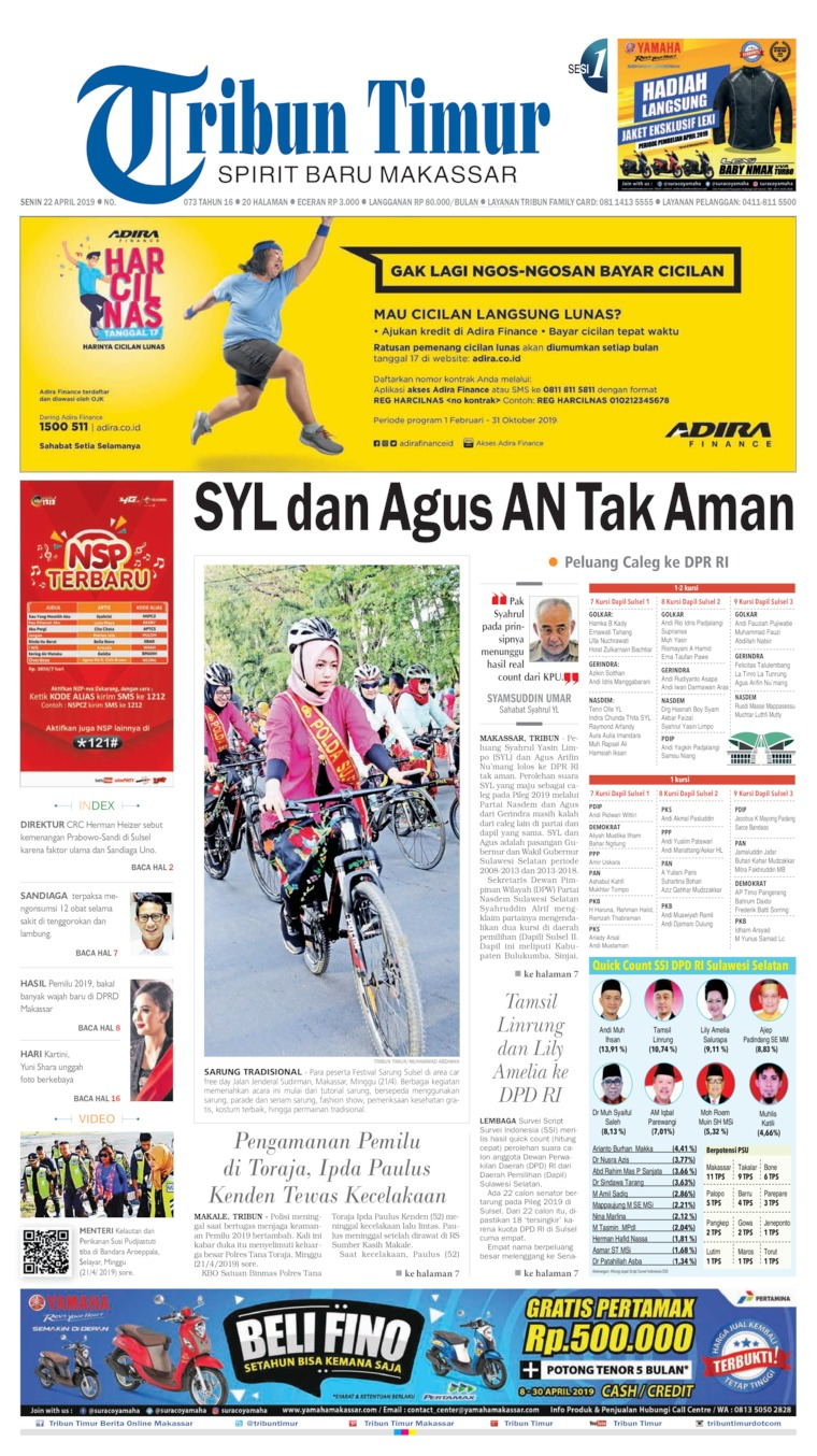 Koran Digital Tribun Timur 22 April 2019
