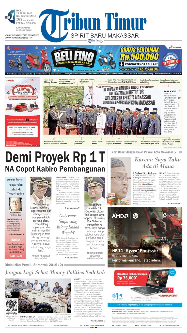 Tribun Timur Digital Newspaper 24 April 2019