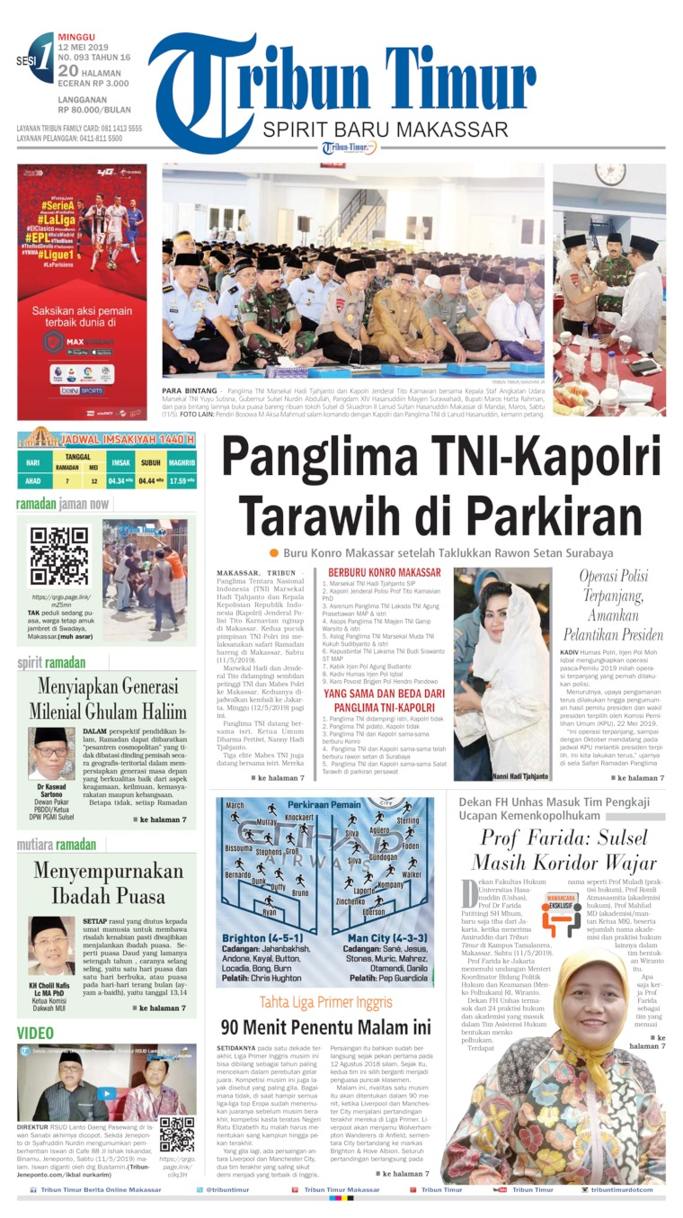Tribun Timur Digital Newspaper 12 May 2019