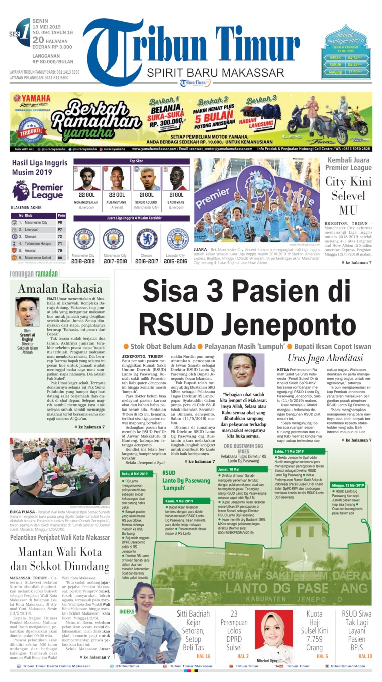 Tribun Timur Digital Newspaper 13 May 2019