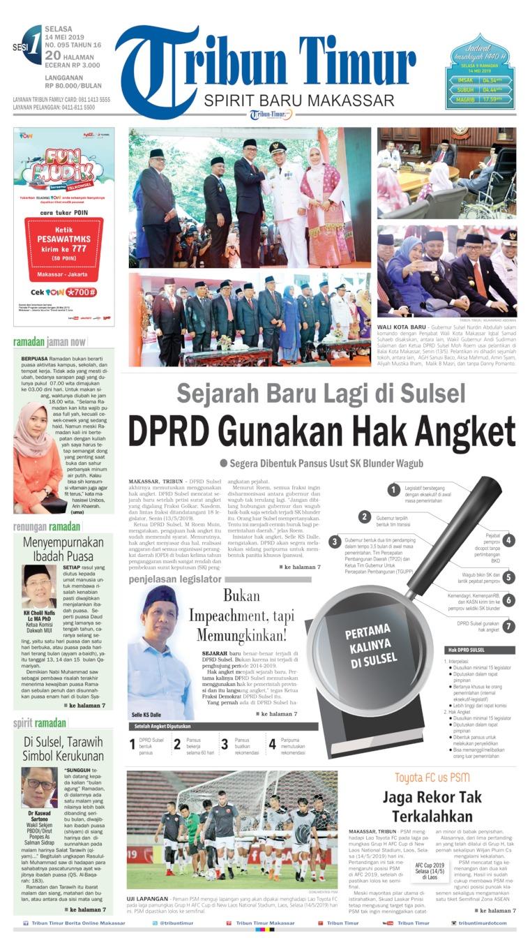 Tribun Timur Digital Newspaper 14 May 2019
