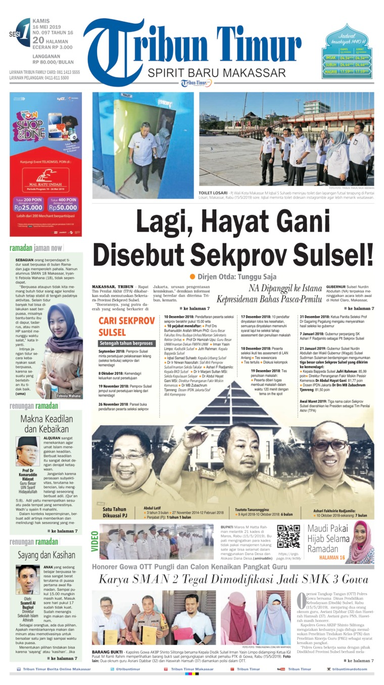 Tribun Timur Digital Newspaper 16 May 2019