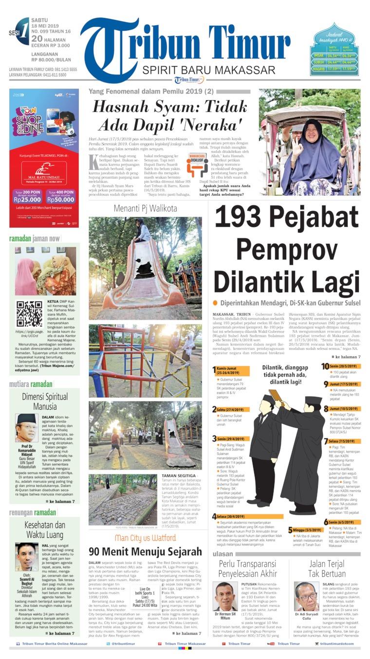 Tribun Timur Digital Newspaper 18 May 2019