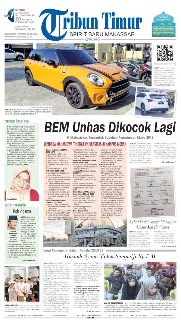 Tribun Timur Digital Newspaper 19 May 2019