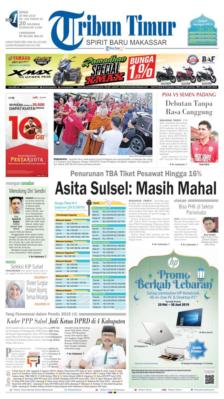 Tribun Timur Digital Newspaper 20 May 2019