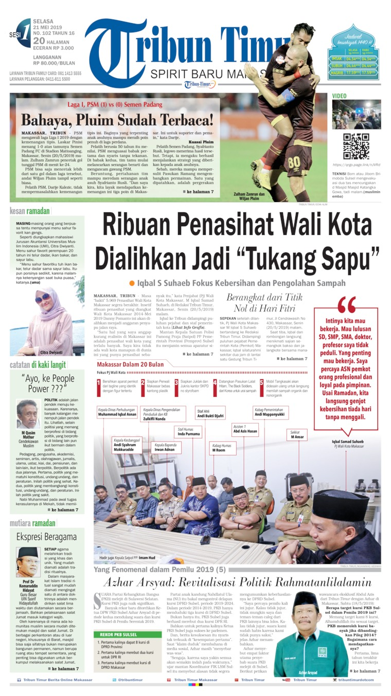 Tribun Timur Digital Newspaper 21 May 2019