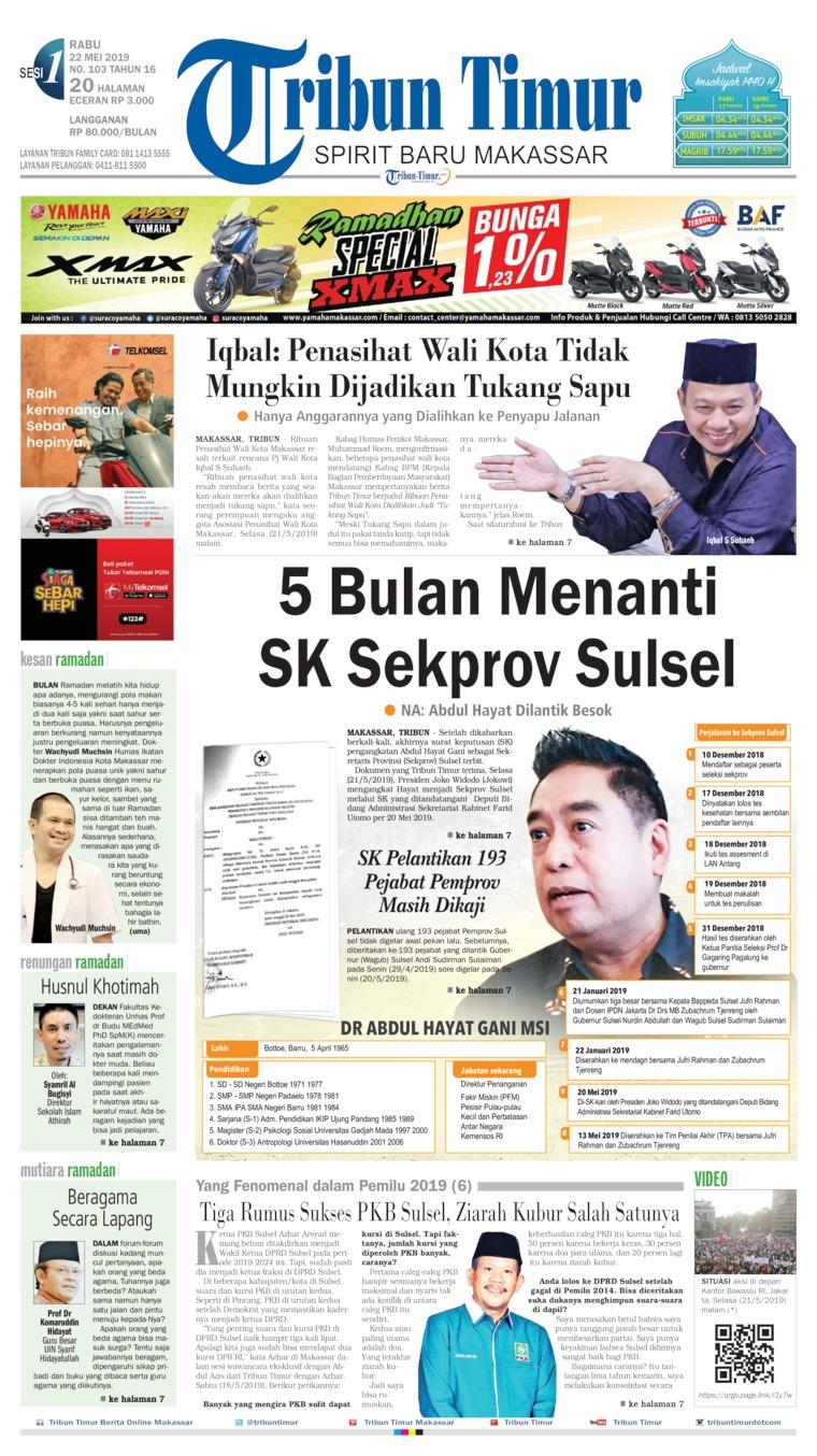 Tribun Timur Digital Newspaper 22 May 2019