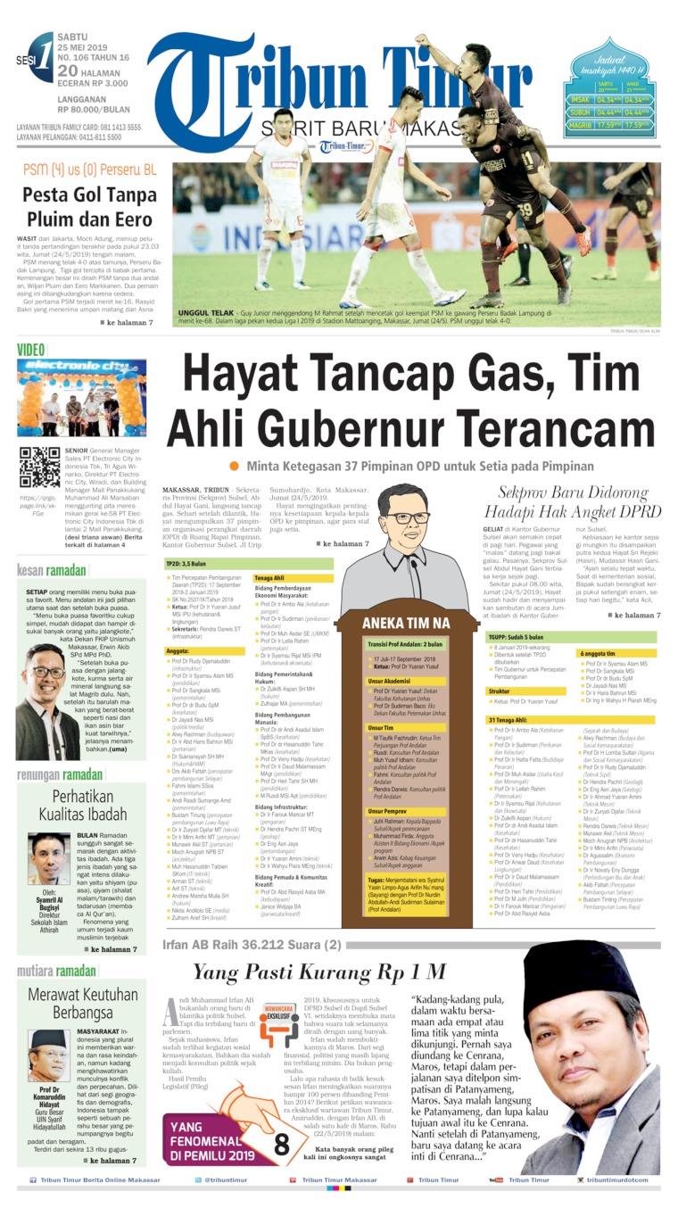 Tribun Timur Digital Newspaper 25 May 2019