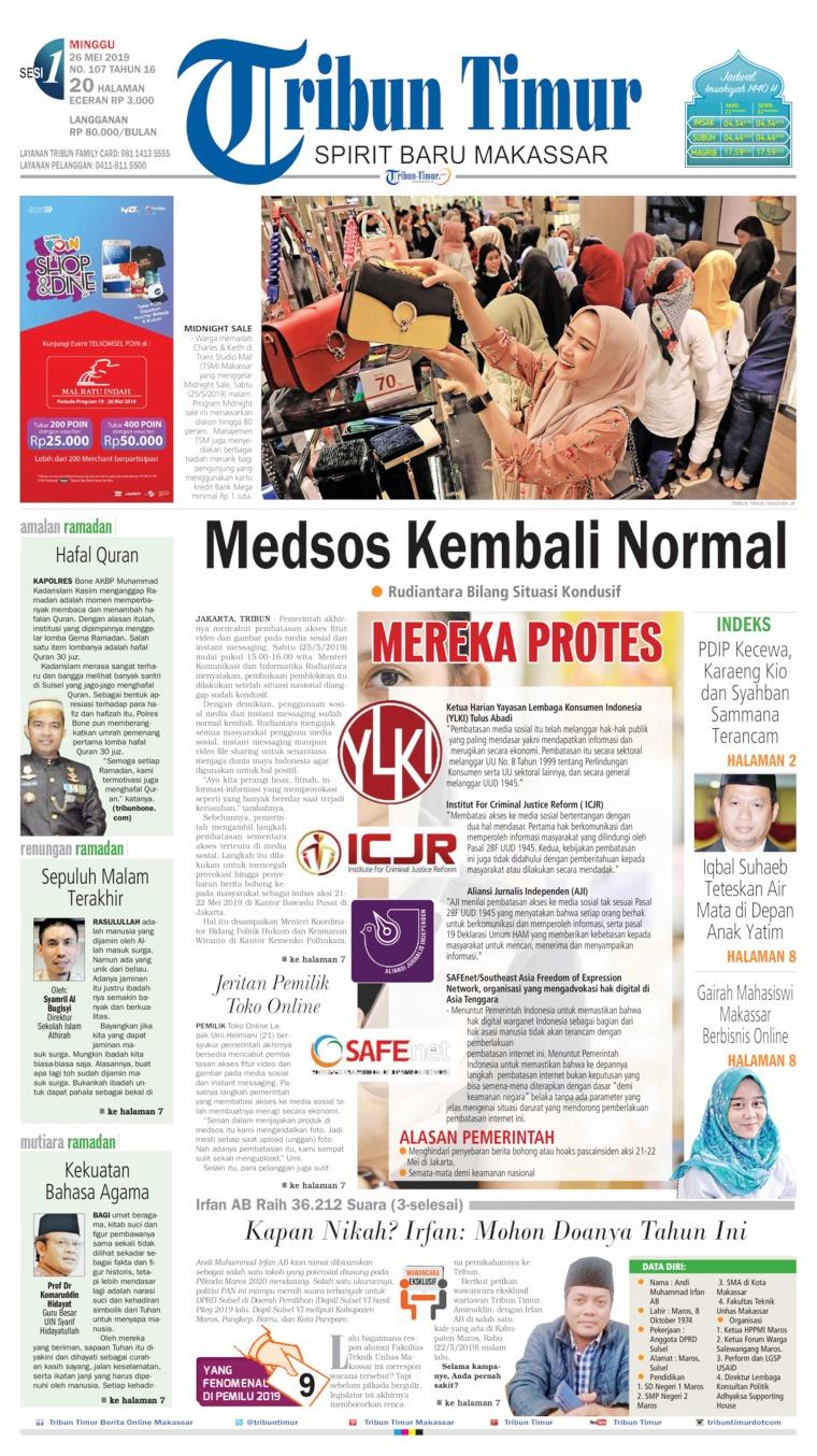 Koran Digital Tribun Timur 26 Mei 2019