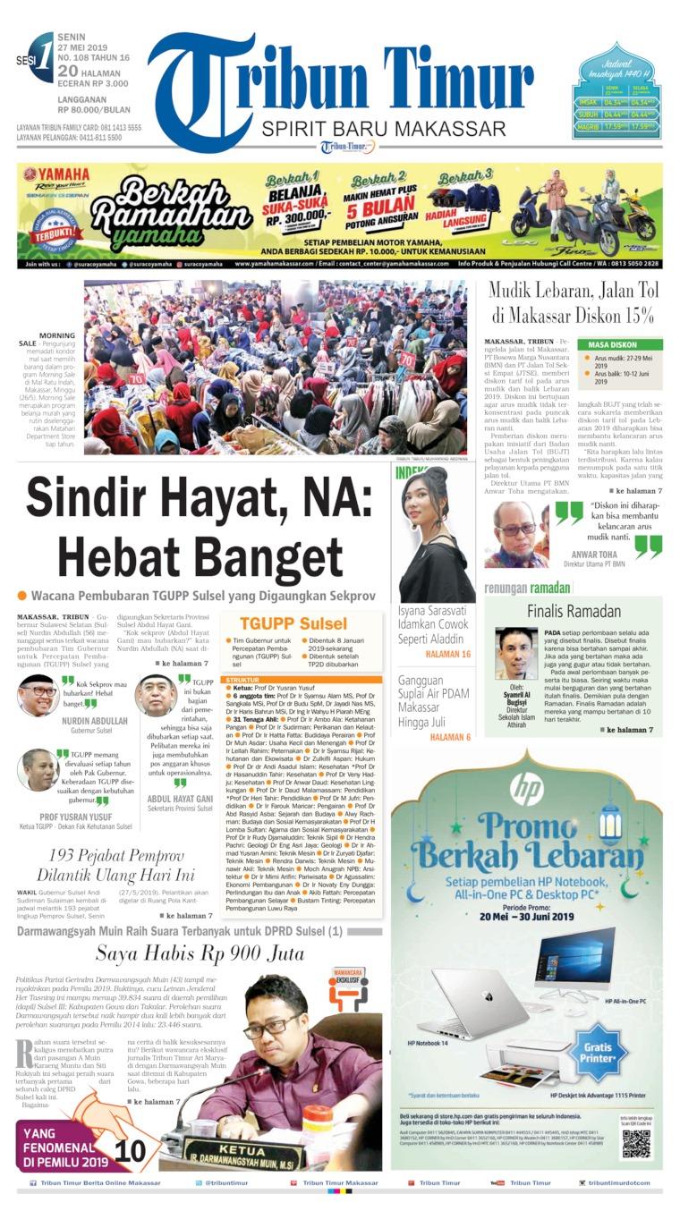 Tribun Timur Digital Newspaper 27 May 2019