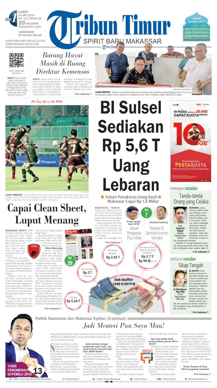 Tribun Timur Digital Newspaper 30 May 2019