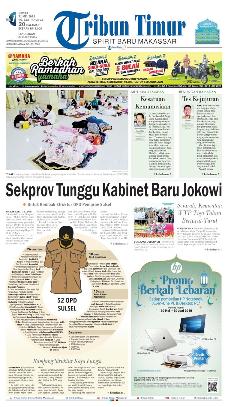 Tribun Timur Digital Newspaper 31 May 2019