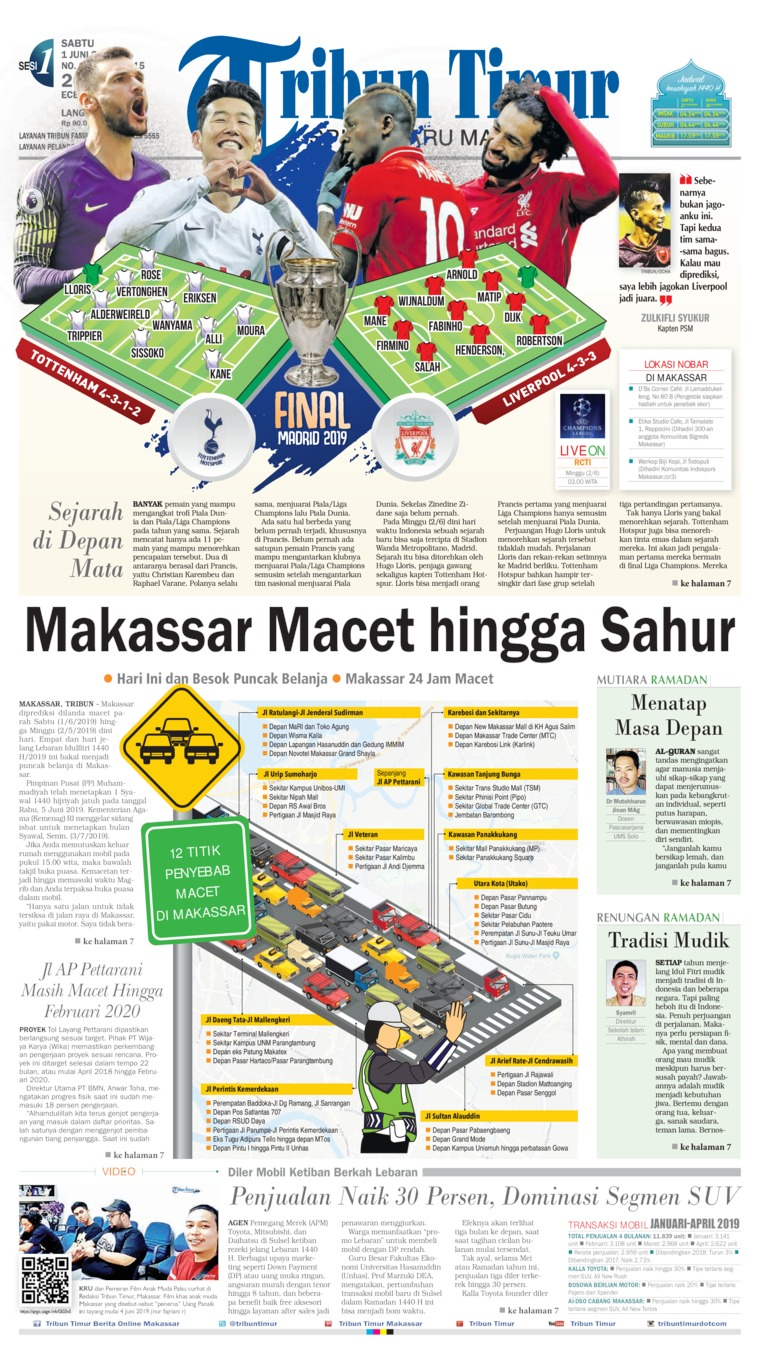 Tribun Timur Digital Newspaper 01 June 2019