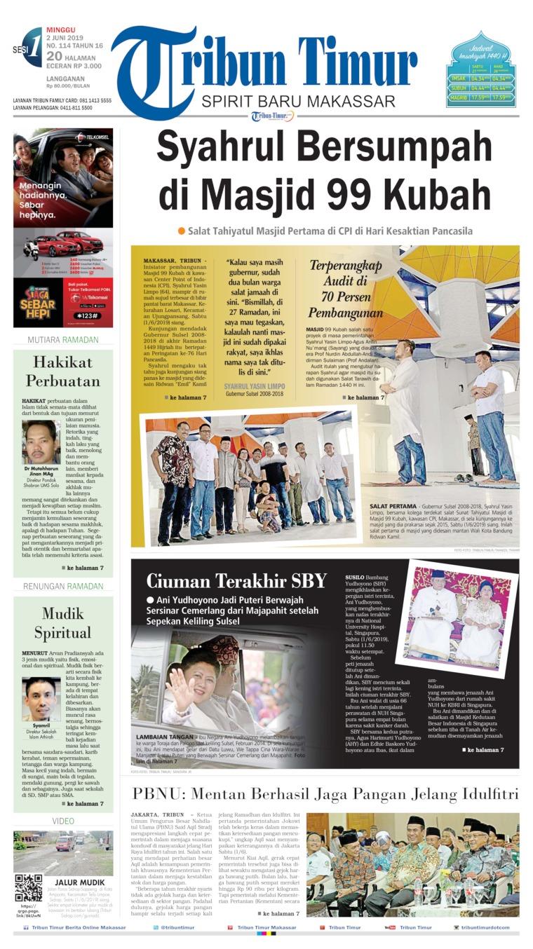 Tribun Timur Digital Newspaper 02 June 2019