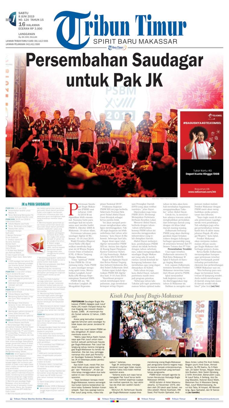 Tribun Timur Digital Newspaper 08 June 2019