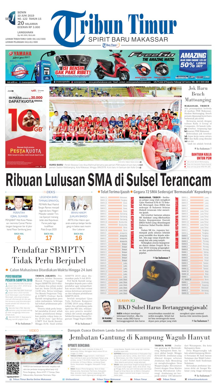 Tribun Timur Digital Newspaper 10 June 2019
