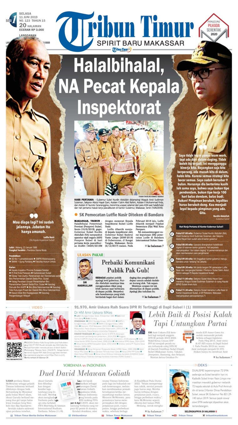 Tribun Timur Digital Newspaper 11 June 2019