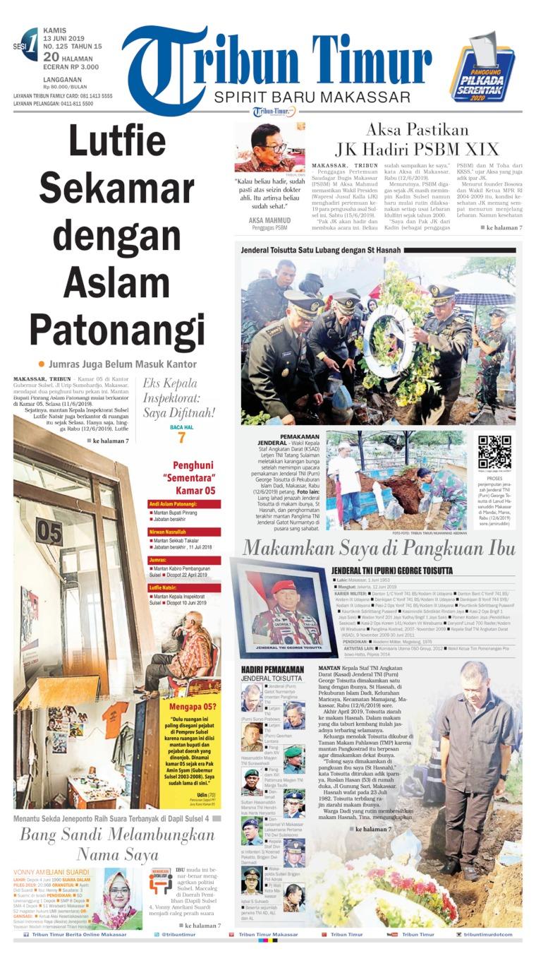 Tribun Timur Digital Newspaper 13 June 2019