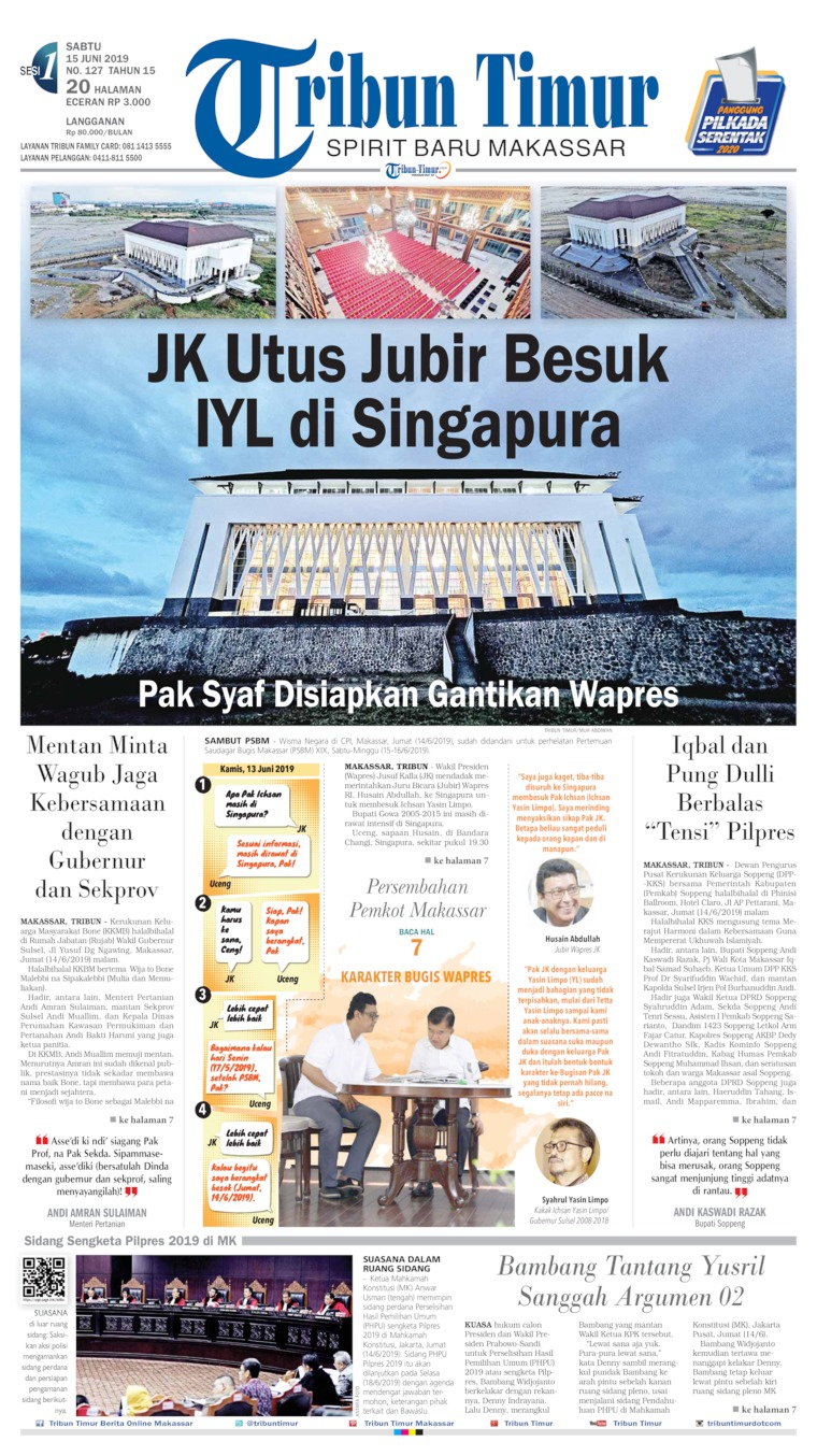Tribun Timur Digital Newspaper 15 June 2019