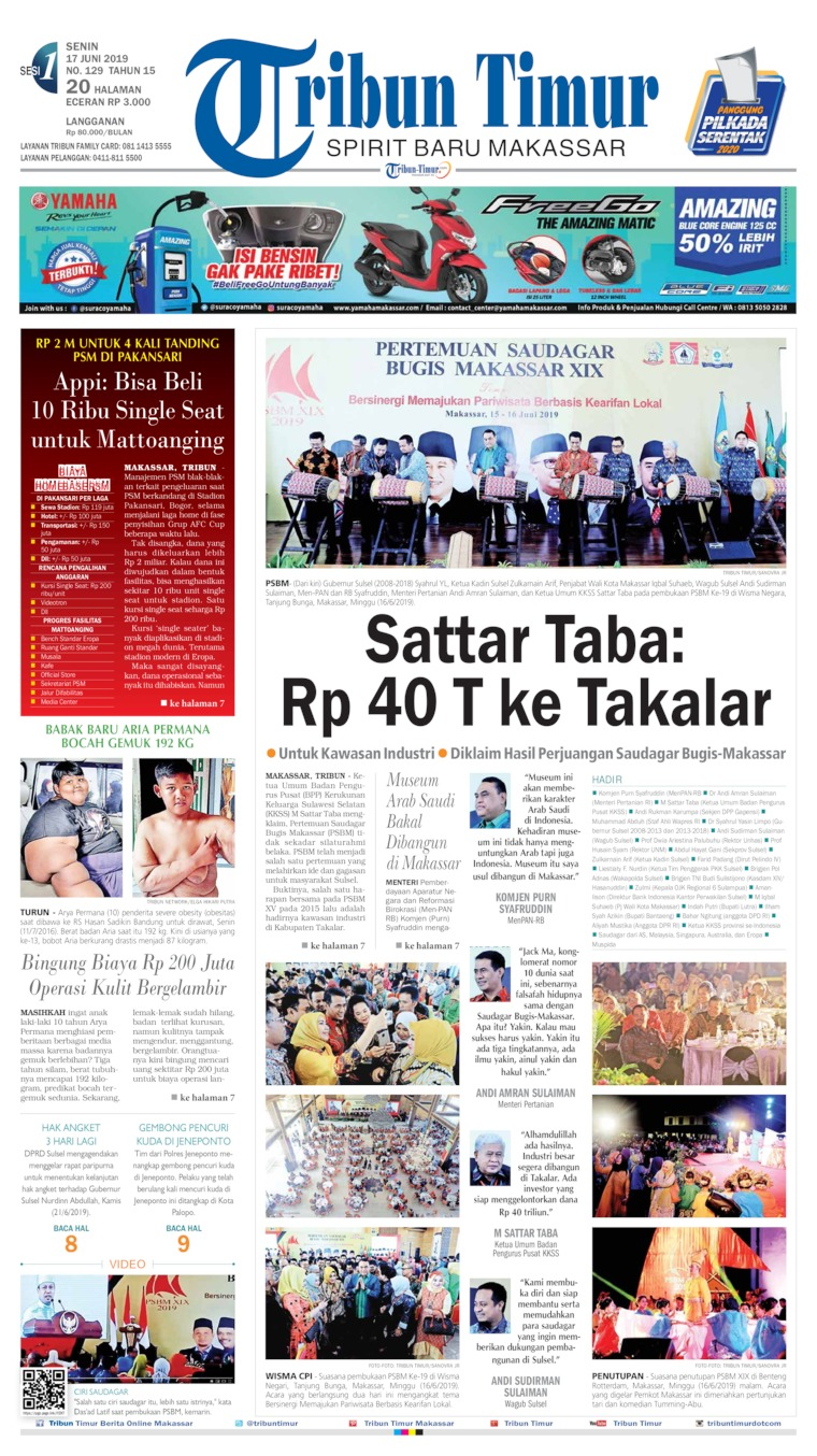Tribun Timur Digital Newspaper 17 June 2019