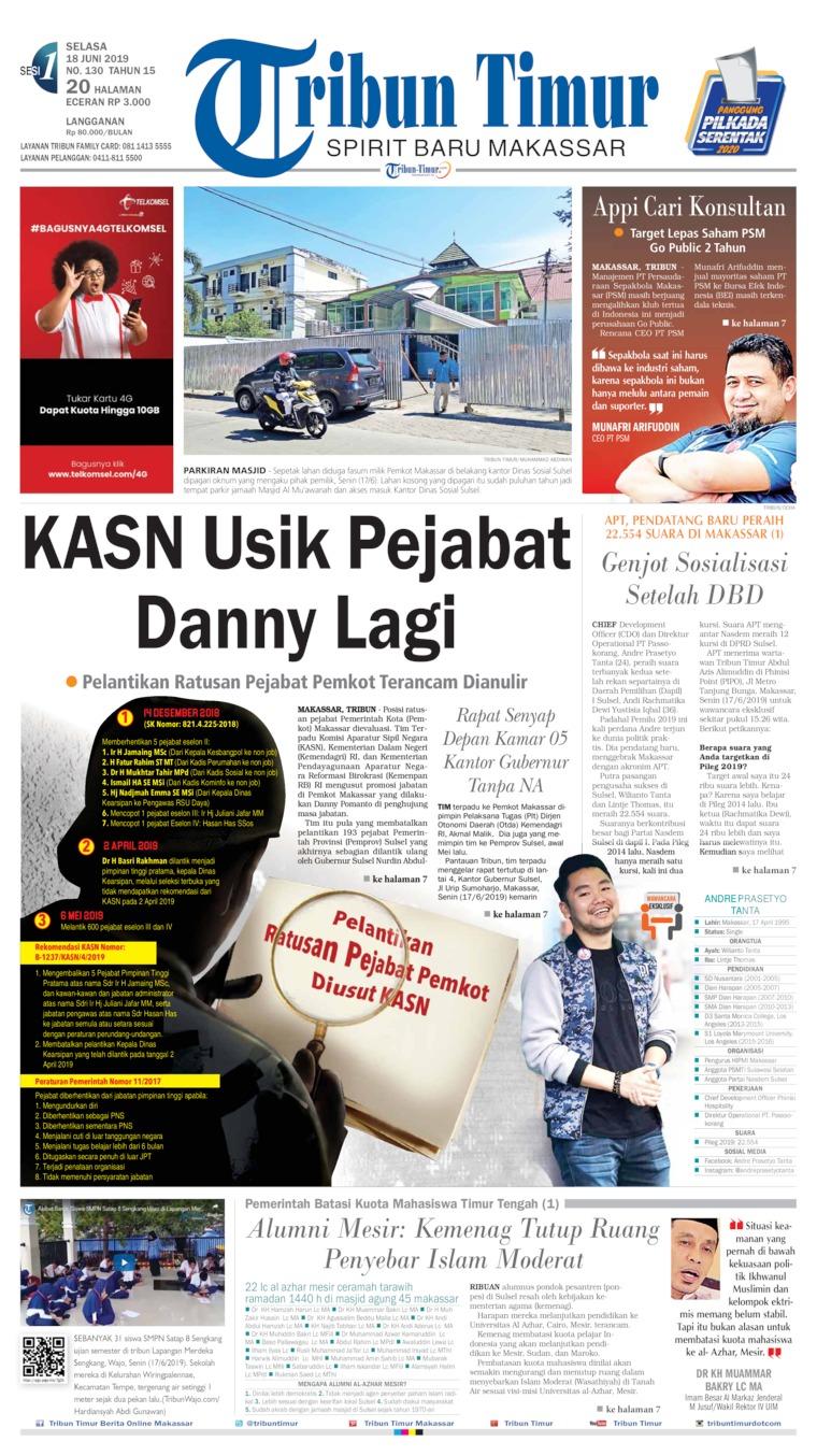 Tribun Timur Digital Newspaper 18 June 2019