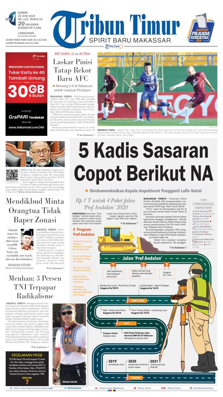 Koran Digital Tribun Timur 20 Juni 2019