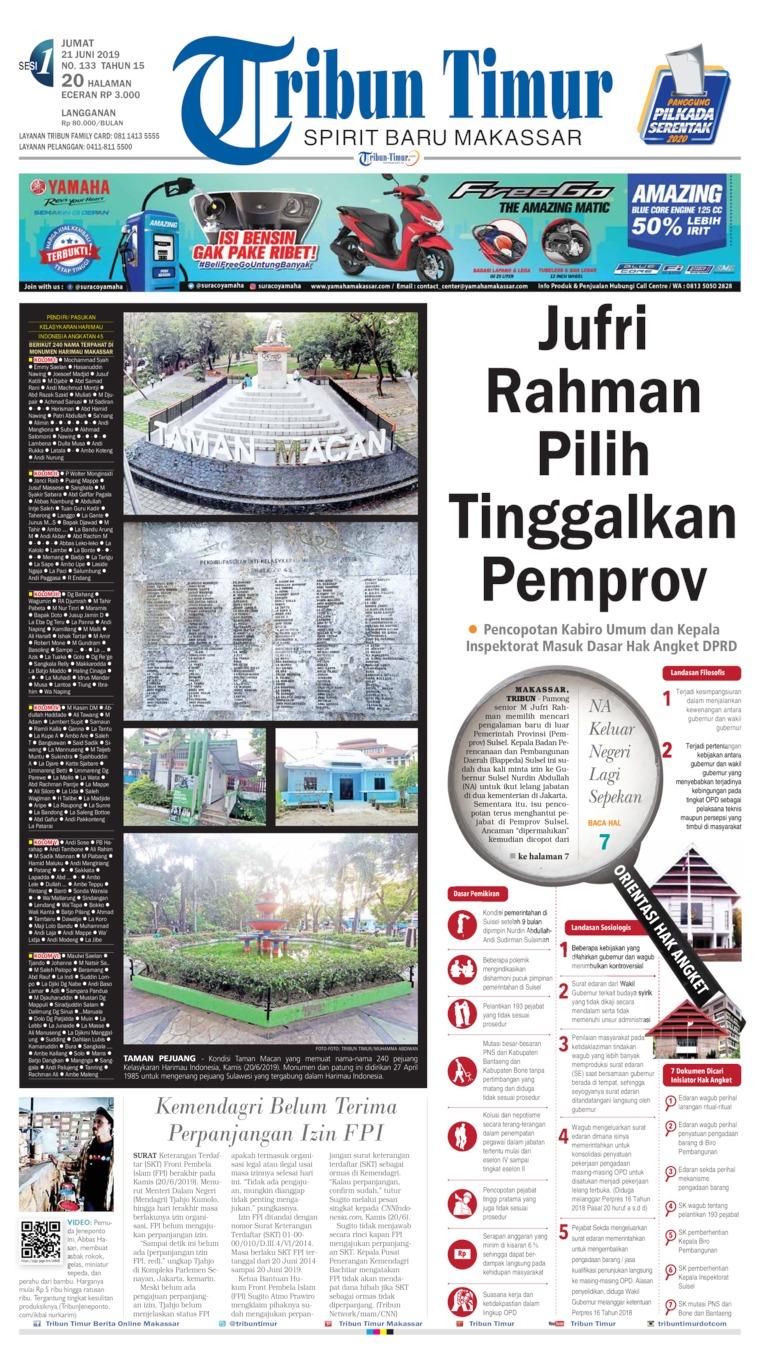Koran Digital Tribun Timur 21 Juni 2019
