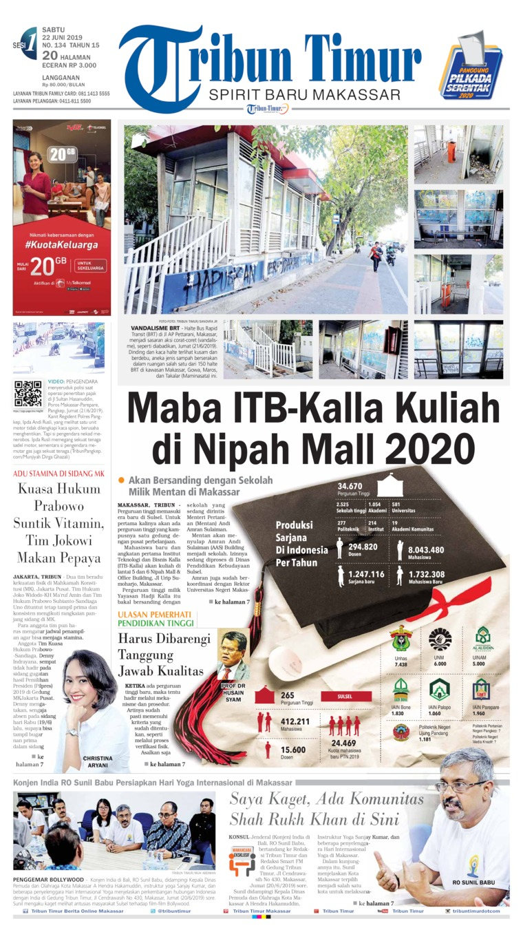 Tribun Timur Digital Newspaper 22 June 2019