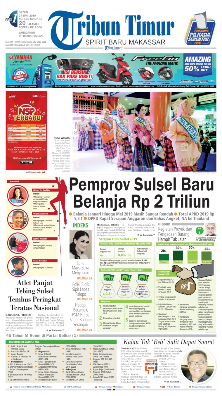 Tribun Timur Digital Newspaper 24 June 2019